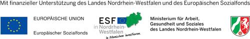 Logo des Europäischen Sozialfonds (ESF) in NRW