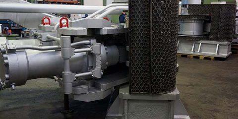 Instandsetzung Schwenkwerke von Stichlochstopfmaschinen / Hochofenamaturen