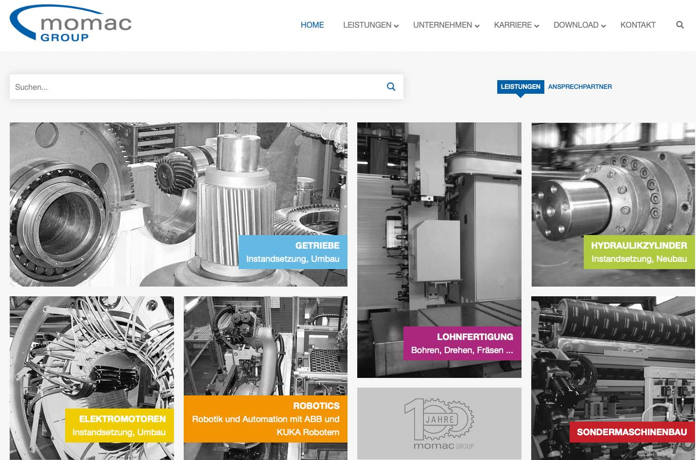 momac Group neue Homepage online