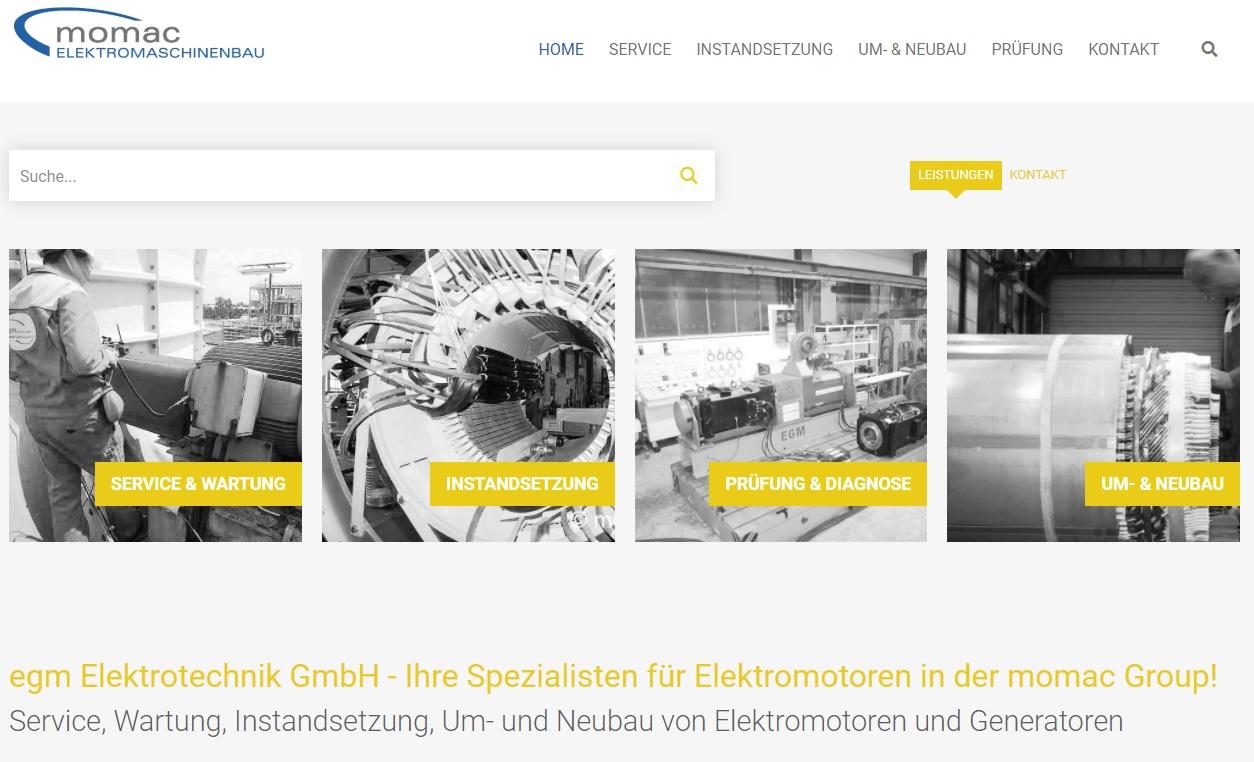 Service, Wartung und Reparatur von Elektromotoren und Generatoren aller Hersteller - momac Elektromaschinenbau Moers