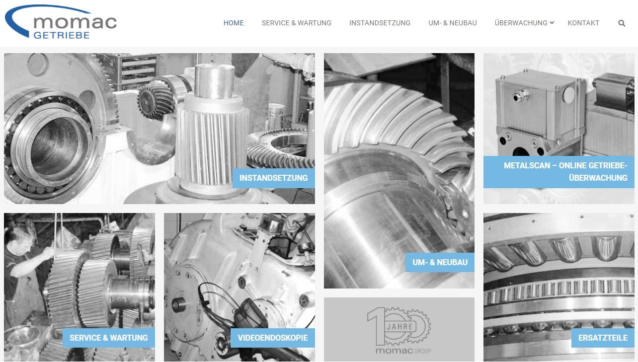 Wartung, Service und Instandsetzung von Getrieben aller Hersteller - momac Group Moers