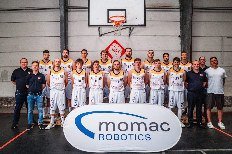 momac Robotics ist auch in der Saison 2021/22 Sponsor der BG Kamp-Lintfort